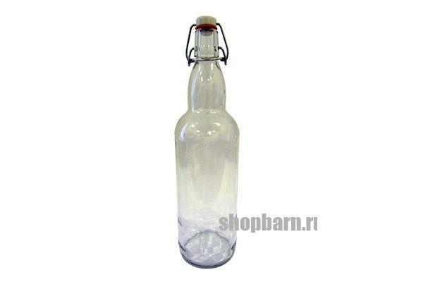 Бутылка прозрачная с бугельной пробкой 1 л.