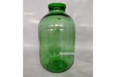 Стеклянная банка твист офф ТО100 для консервирования 15л с крышкой (зеленая)