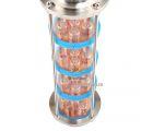 """Колпачковая колонна для дистилляции с 4 ур. очистки, 5 медн Reg-caps, кламп 4"""""""
